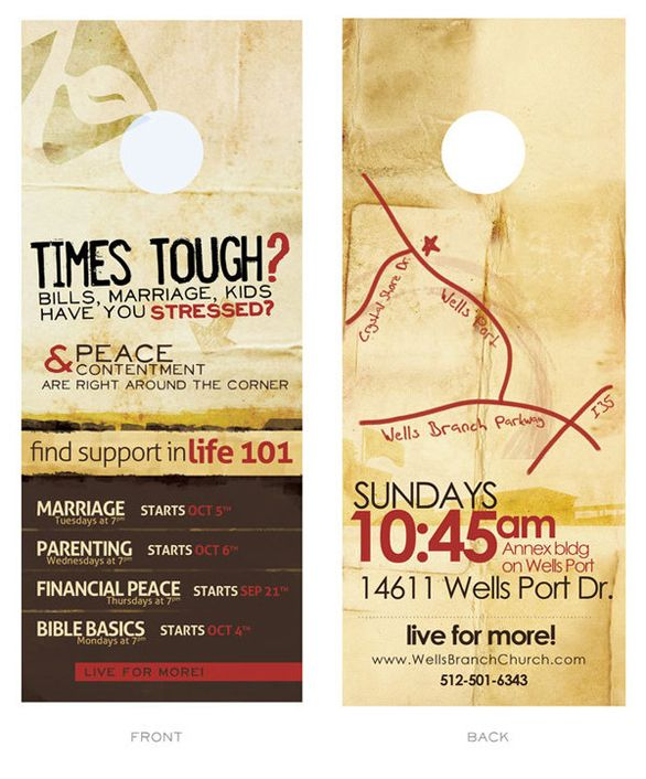 Best Door Hangers Images On   Doors Church Outreach