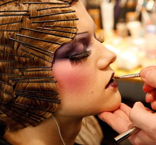 backstage hair/makeup - john galliano/paris - hairpinned bob