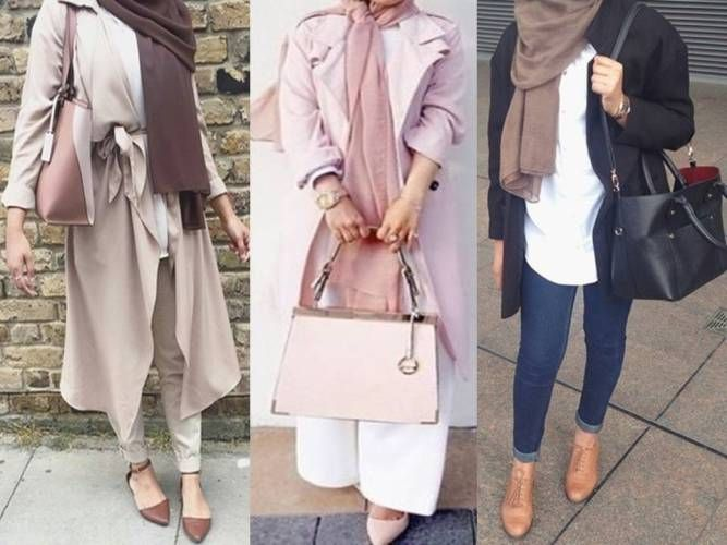 neutral hijab outfit ideas