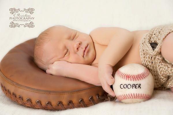 Newborn baseball picture