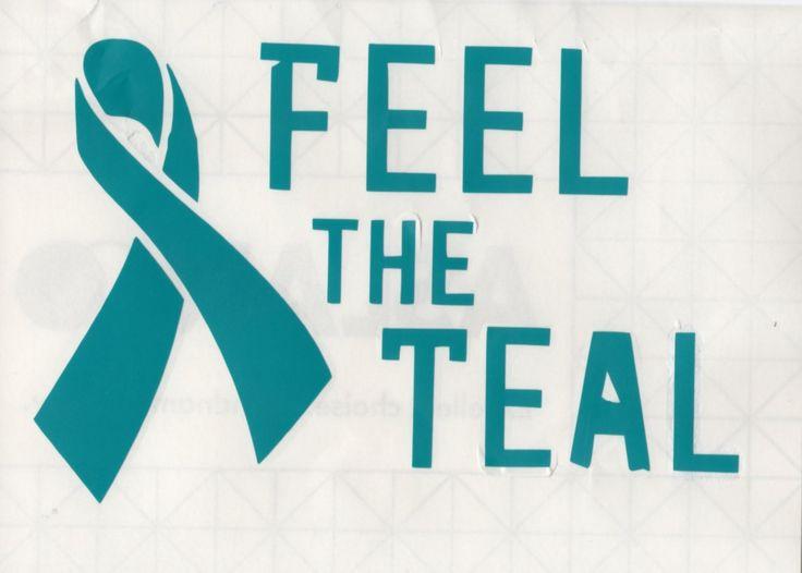 Feel the Teal - ovarian cancer awareness decal www.teambethcancerawareness.com