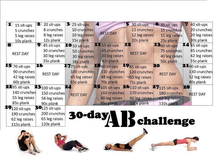 30 Day Ab Challenge. Must try this!!