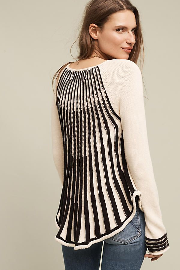 Cabled Swing Sweater