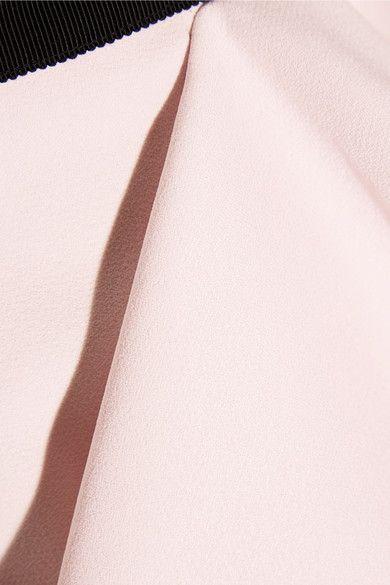 Giambattista Valli - Grosgrain-trimmed Ruffled Crepe Skirt - Pink - IT