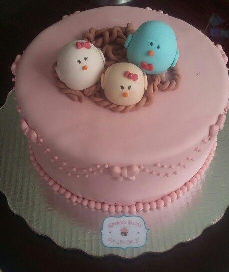 Birds cake fondat