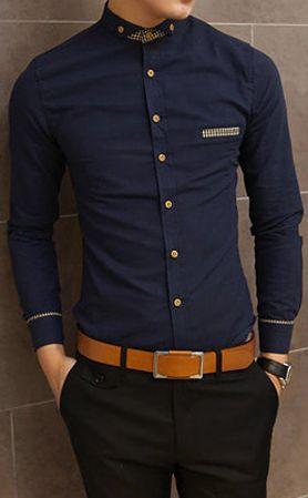 Navy Blue Shirt for Men