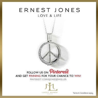 Saturday 15th June 2013 - #pinittowinit One winner will be drawn on June 17th 2013. Your Facebook or Twitter account MUST BE linked to your Pinterest profile! Terms and conditions: http://www.ernestjones.co.uk/webstore/static/customerservice/terms_and_conditions.do#pinit
