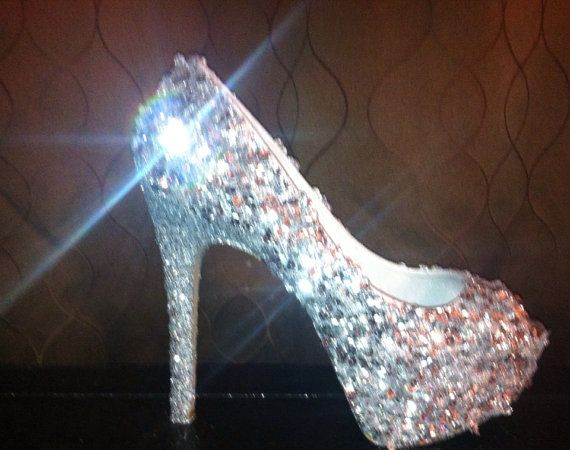 Glitter and Sequins and Shimmer, Oh my!  Shimmer heels for your wedding, party, or special event.  Cinderella wedding shoes:)