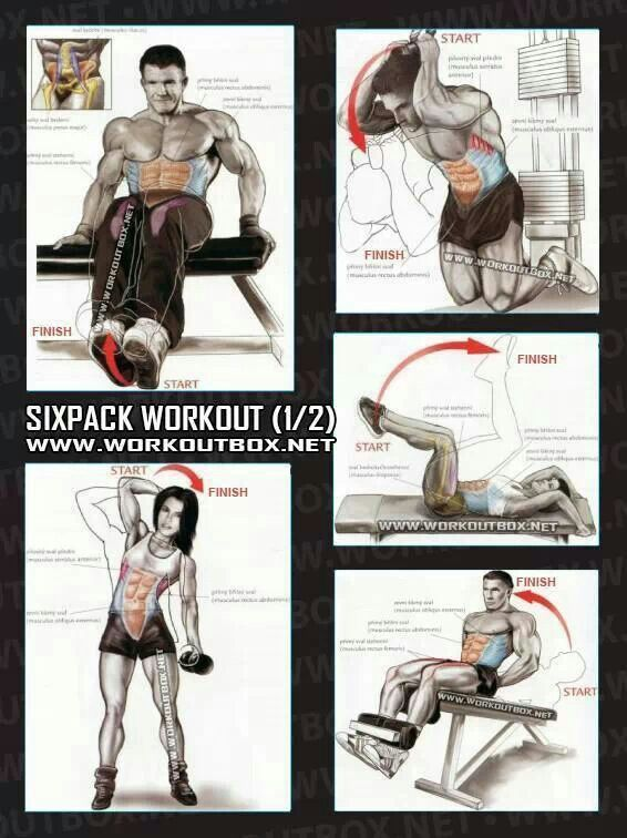 6 pack abs workouts part 1