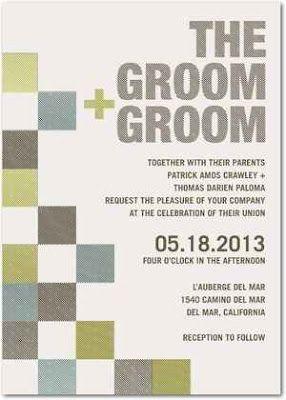 Gay wedding invitation: