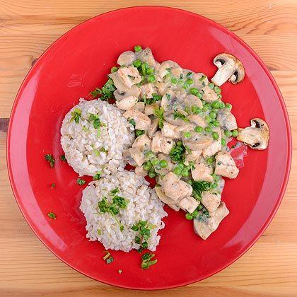 csirkemell zöldborsós, kókusztejes raguban - diétás fitness recept