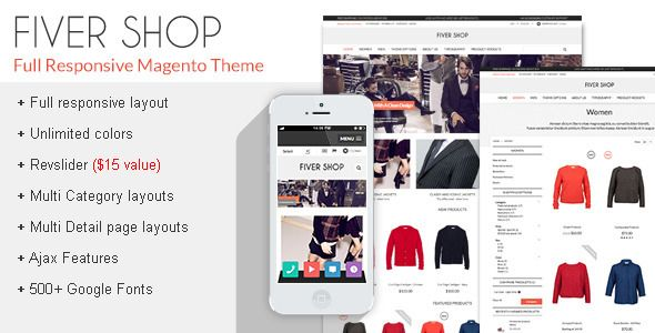 FiverShop - Responsive Magento Theme - Magento eCommerce