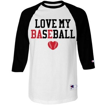Love My #Bae #BaseballGirlfriend Raglan Jersey you can customize. Show off your baseball girlfriend status and put your boyfriend's name and number on the back!