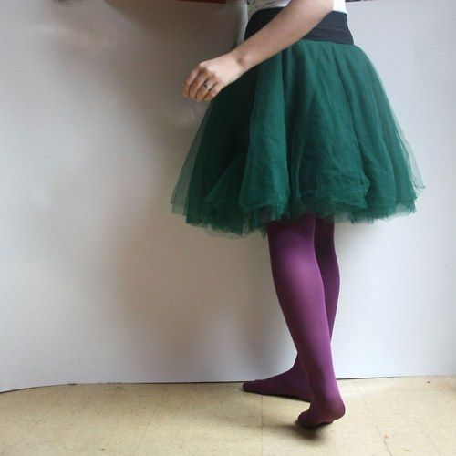 deep green tulleskirt natyris