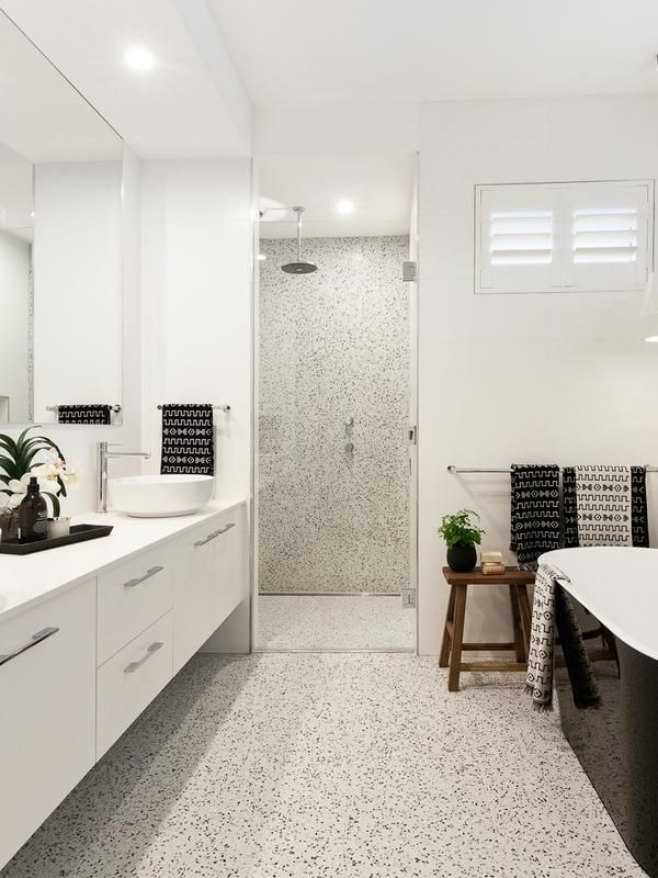 Grey Subway Tile Shower