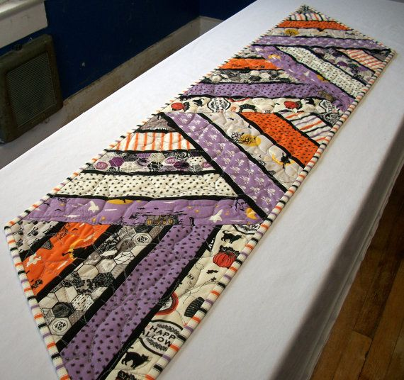 Halloween Table Runner Quilted FREE US Shipping by atthebrightspot
