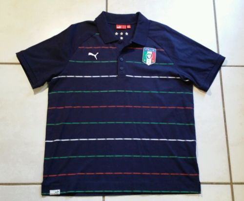 dd00d4b2aa04 Rare PUMA Italy National Team FIGC Soccer Polo Shirt Men s Large please  retweet