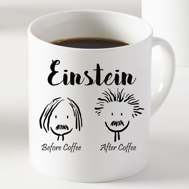Einstein Mug - Black and White Mug - Gifts -Coffee Cup