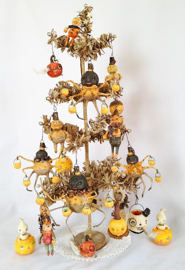 by arbutus hunter spun cotton ornament co - Halloween Christmas Ornaments