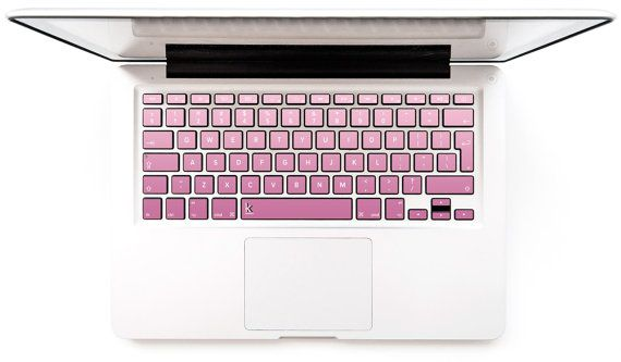 Blush ombre Macbook Decal Keyboard Sticker for Macbook Mac Lenovo Stickers Asus Sony Acer Dell HP Samsung Toshiba Pinky # Blush ombre
