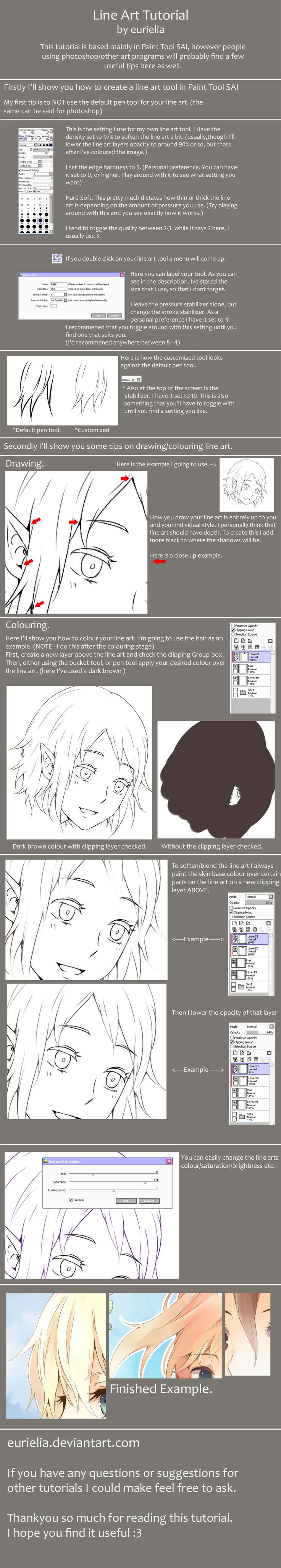 Lineart tutorial by eurielia.deviantart.com on @deviantART