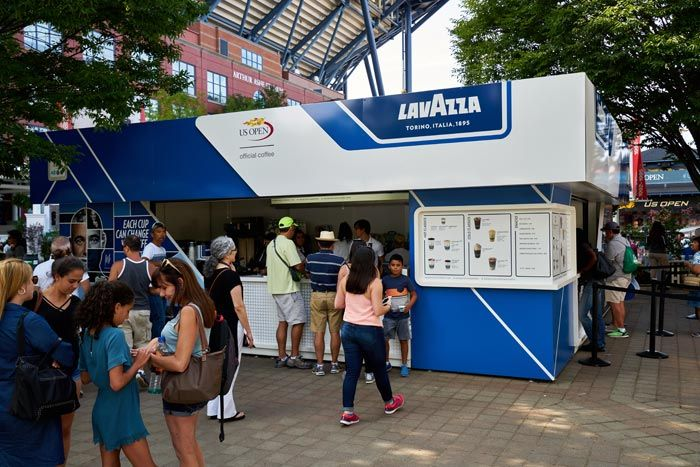 Lavazza: Returning sponsor Lavazza, the official coffee of the event, has an onsite cafe offering a variety of drinks, including hot coffee and espresso, cold brew, and iced espresso.
