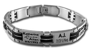 Total She Inc. Men's Personalized Brandon Bracelet. $65.00