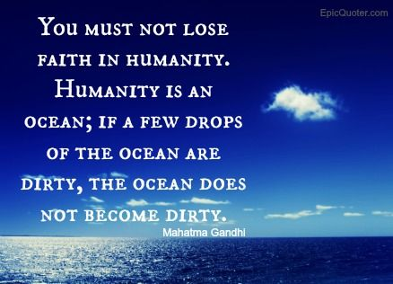Gandhi quote about humanity