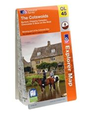 Ordnance Survey Explorer The Cotswolds Map This Ordnance Survey Map The Cotswolds is OS map sheet number OL45 and covers Cirencester, Burford and Chipping Campden (Barcode EAN=9780319241103) http://www.MightGet.com/january-2017-13/ordnance-survey-explorer-the-cotswolds-map.asp