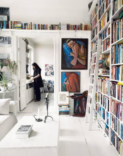 Loving the shelves over the door. Also? Again. Ladder. <3