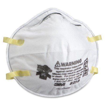 3m 8210PA1-A Sanding and Fiberglass Insulation Respirator, Multicolor