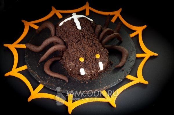 Торт «Паук» на Хэллоуин