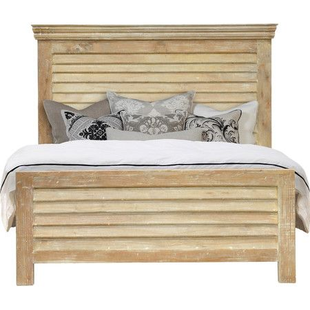 Audley Bed king size sale 1200 .. clap board siding or ship lap with trimmed out sides .. stone wash colours blues, greys, whites