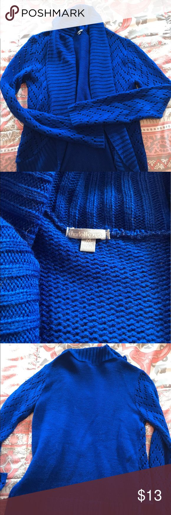 Royal blue sweater cardigan from Charlotte Russe! Worn 3-4 times! Great condition! Charlotte Russe Sweaters Cardigans
