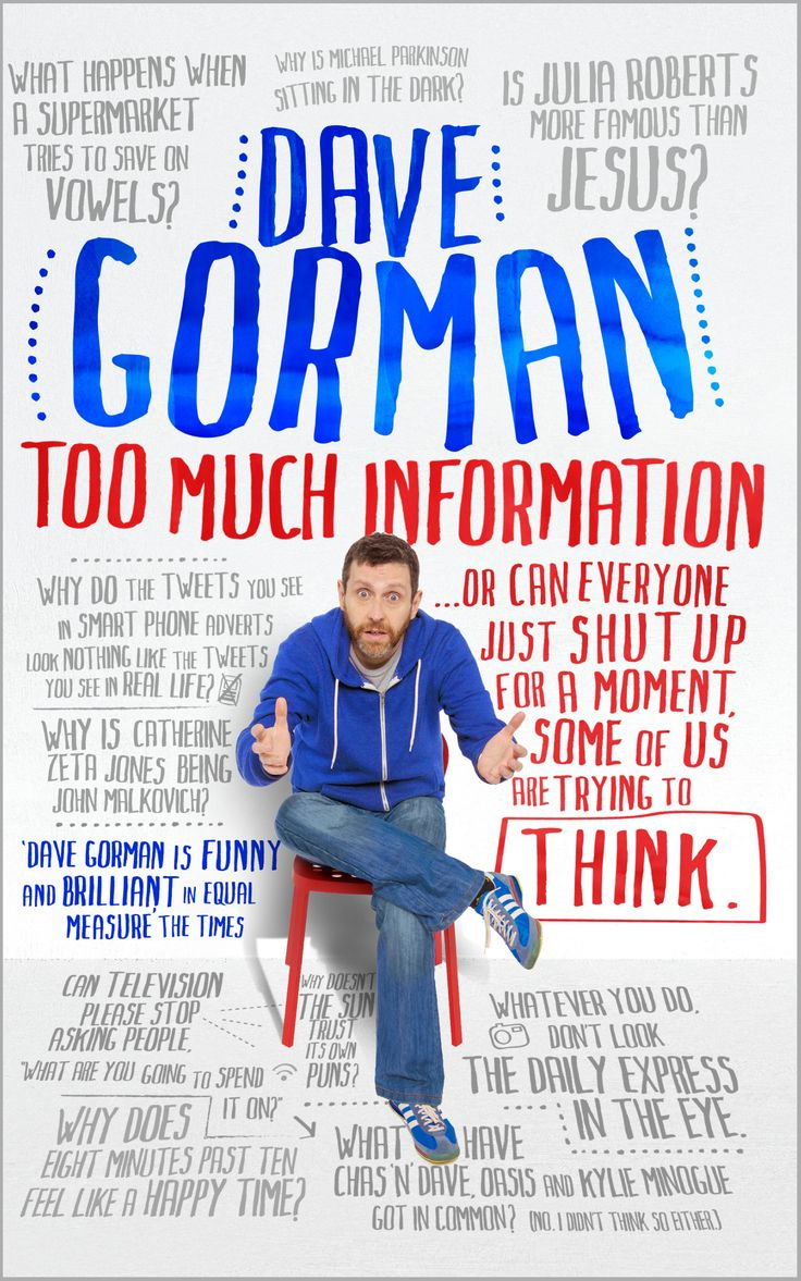 Dave Gorman: Too Much Information cover