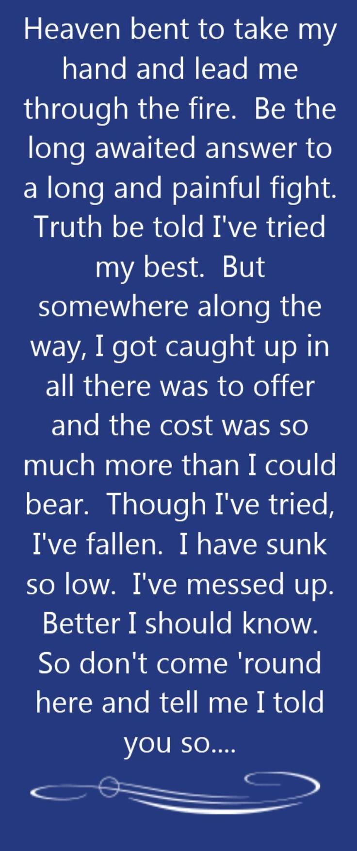 Sarah McLachlan - Fallen - song lyrics, song quotes, songs, music lyrics, music quotes,