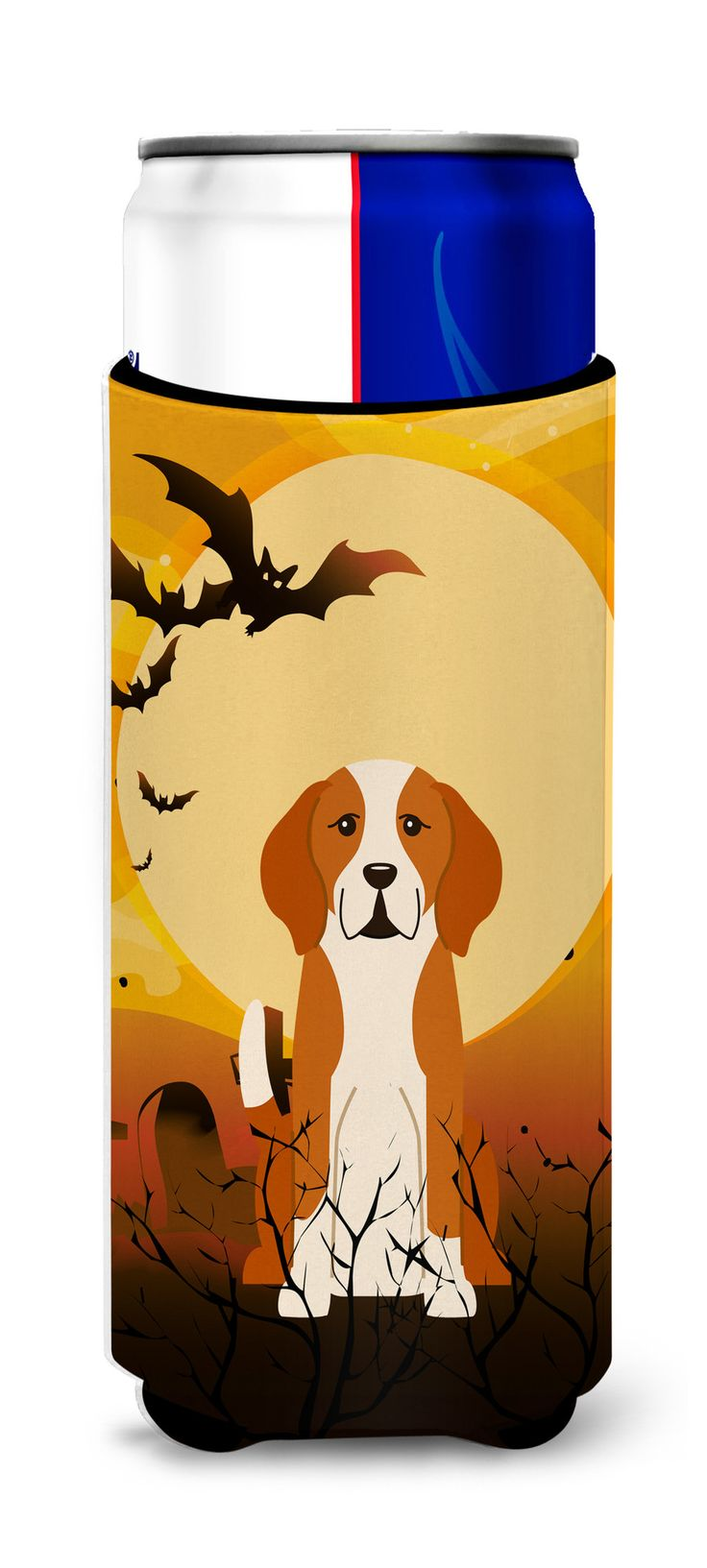 Halloween English Foxhound Michelob Ultra Hugger for slim cans BB4376MUK