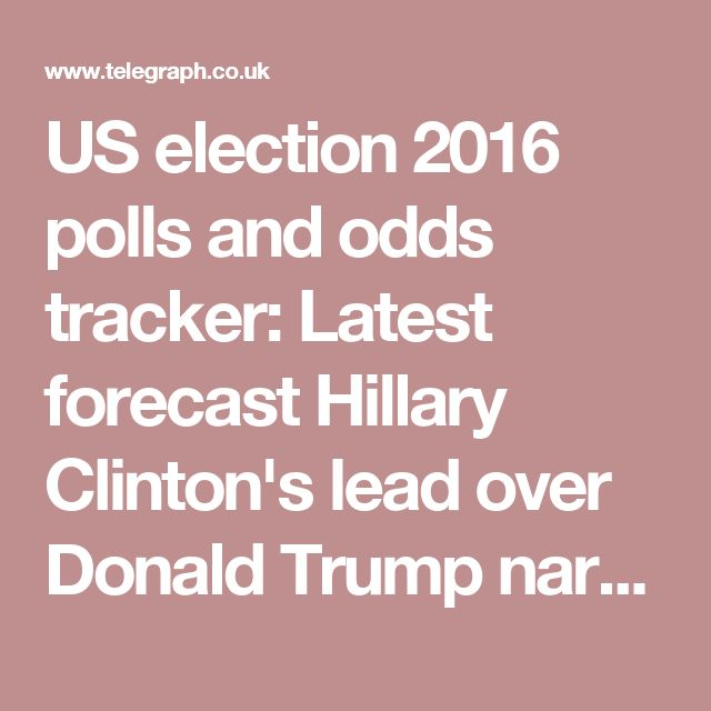 US election 2016 polls and odds tracker: Latest forecast Hillary Clinton's lead over Donald Trump narrows after FBI revelations