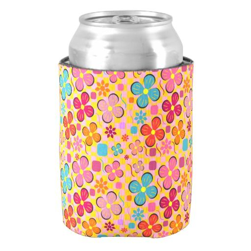 A colorful #can #cooler, perfect for hot #summer #days #zazzle