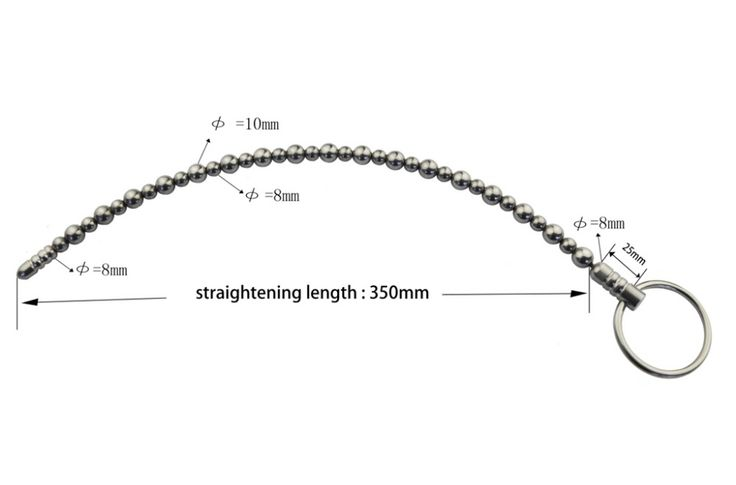 ==> [Free Shipping] Buy Best stainless steel 350mm sounding rod urethral sound stretching dilators sex toys for men beads urethral sounds male penis plug Online with LOWEST Price | 32589182632