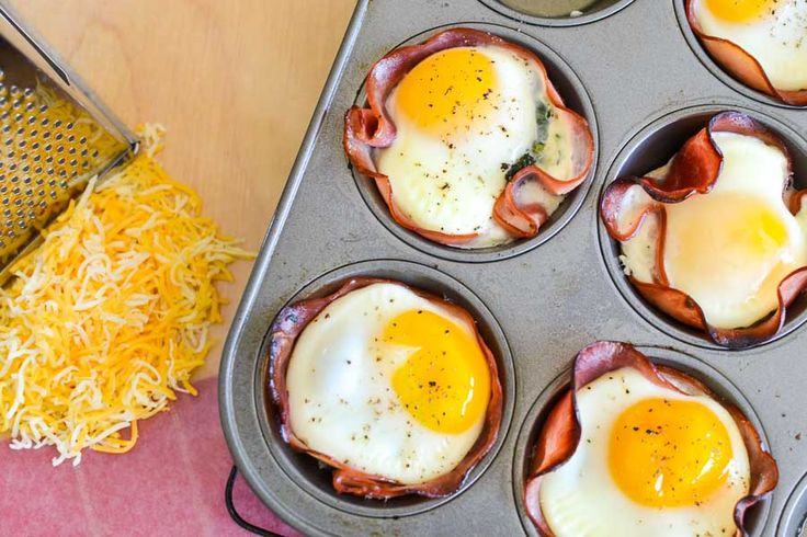 Cheesy Spinach, Ham & Egg Cups - The Foodie and The Fix