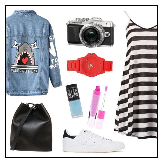 """d"" by dzihan on Polyvore featuring Boohoo, Chicnova Fashion, adidas Originals, 3.1 Phillip Lim, Vince Camuto and Maybelline"