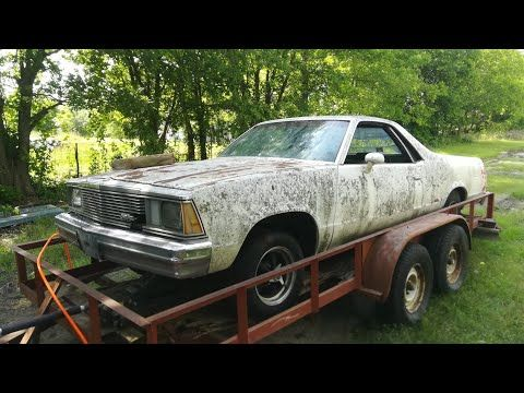 1981 El Camino Left on a Trailer for 21 Years Dragged From