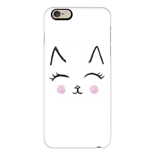 iPhone 6 Plus/6/5/5s/5c Case - Cute Cat Face Watercolour ($40) ❤ liked on Polyvore featuring accessories, tech accessories, phone cases, phone, iphone, cases, iphone case, iphone 6 case, iphone 5 cover case and apple iphone cases