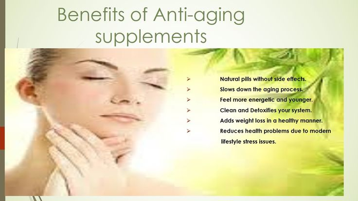 Know about the #benefits of #antiaging supplements