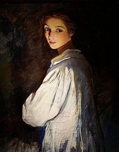Girl with a Candle , Self Portrait - Zinaida Serebriakova 1911