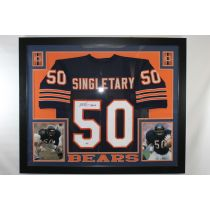 Mike Singletary Framed Autographed Chicago Bears Jersey PSA/DNA COA