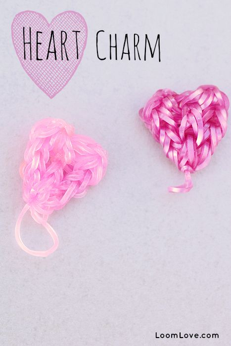 How to Make a Rainbow Loom Heart Charm