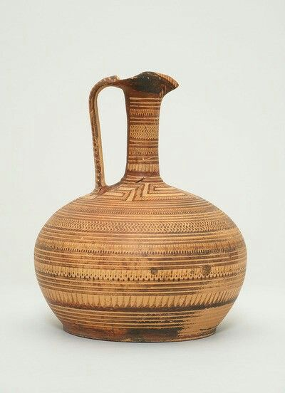 KANNE: MÄANDER UND GEOMETRISCHER DEKOR Griechisch, Attisch, spätgeometrisch 750 - 735 v. Chr.