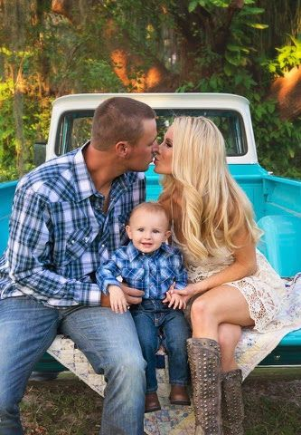 The Sweet Little Southern Charm by Tara Miller: Family Photos 2014 family photo ideas blue country boots truck poses